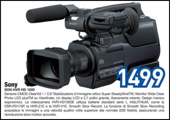 videocamera sony